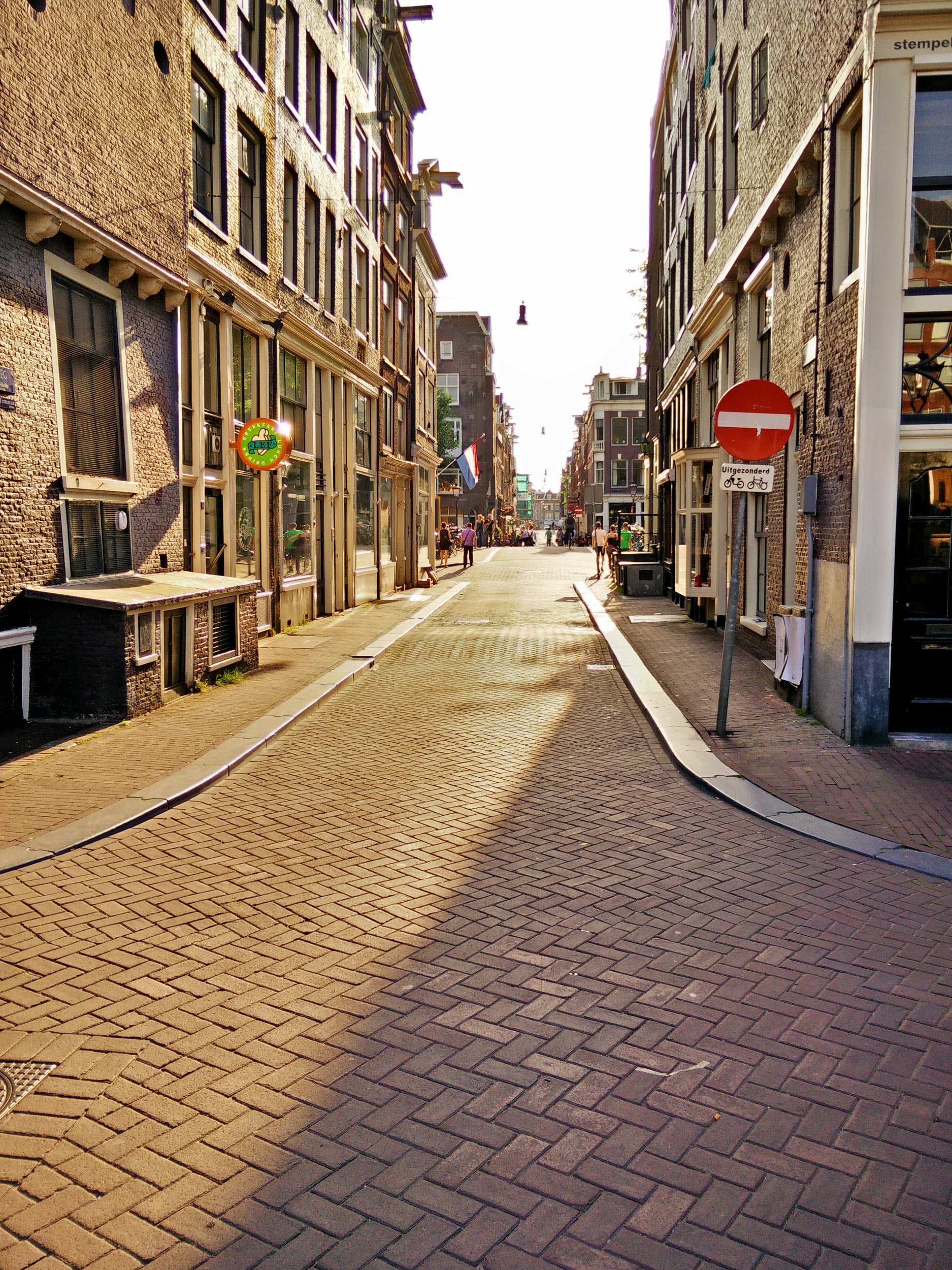 an sunny alley in Amsterdam