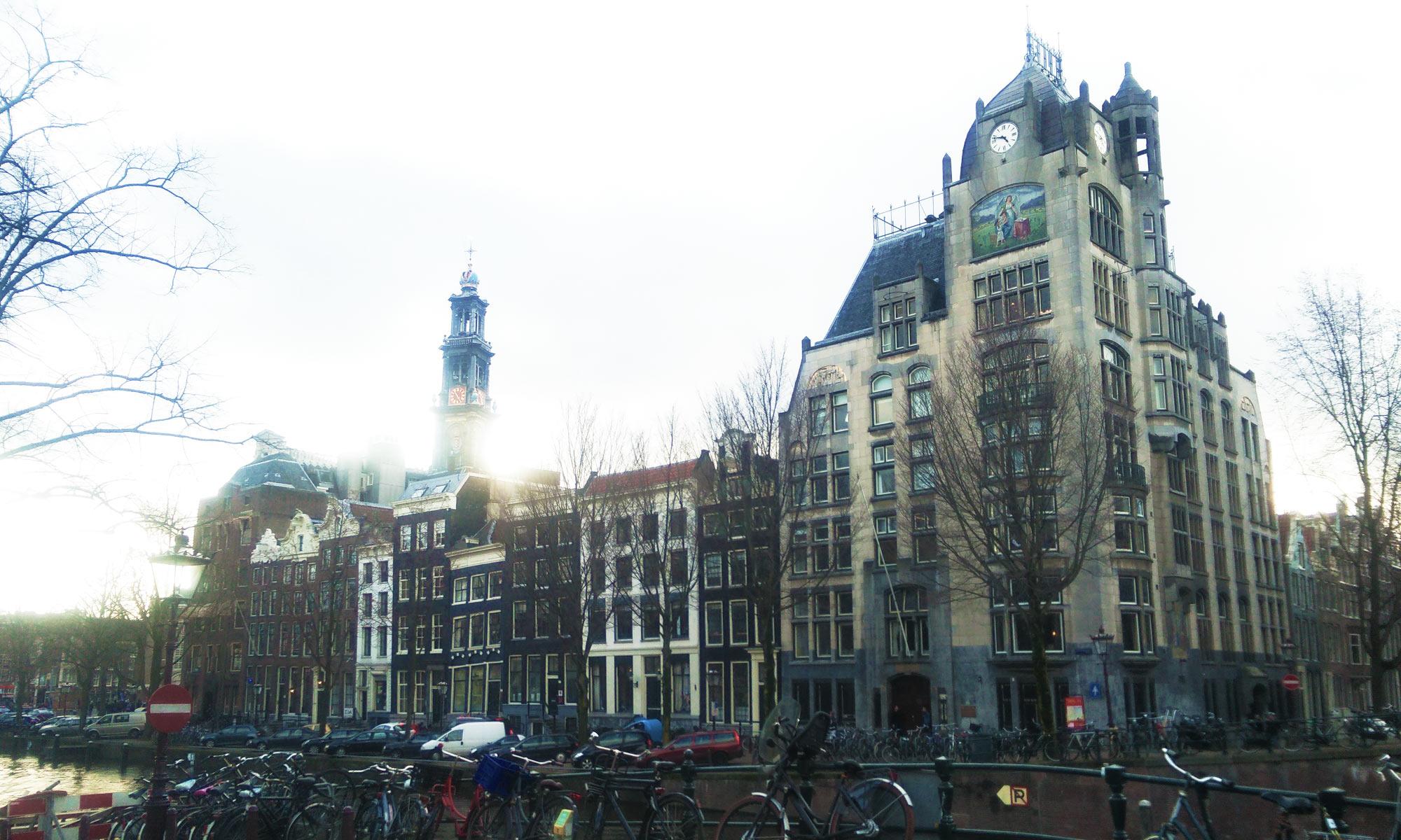 Keisergracht und Westerkerk in Amsterdam