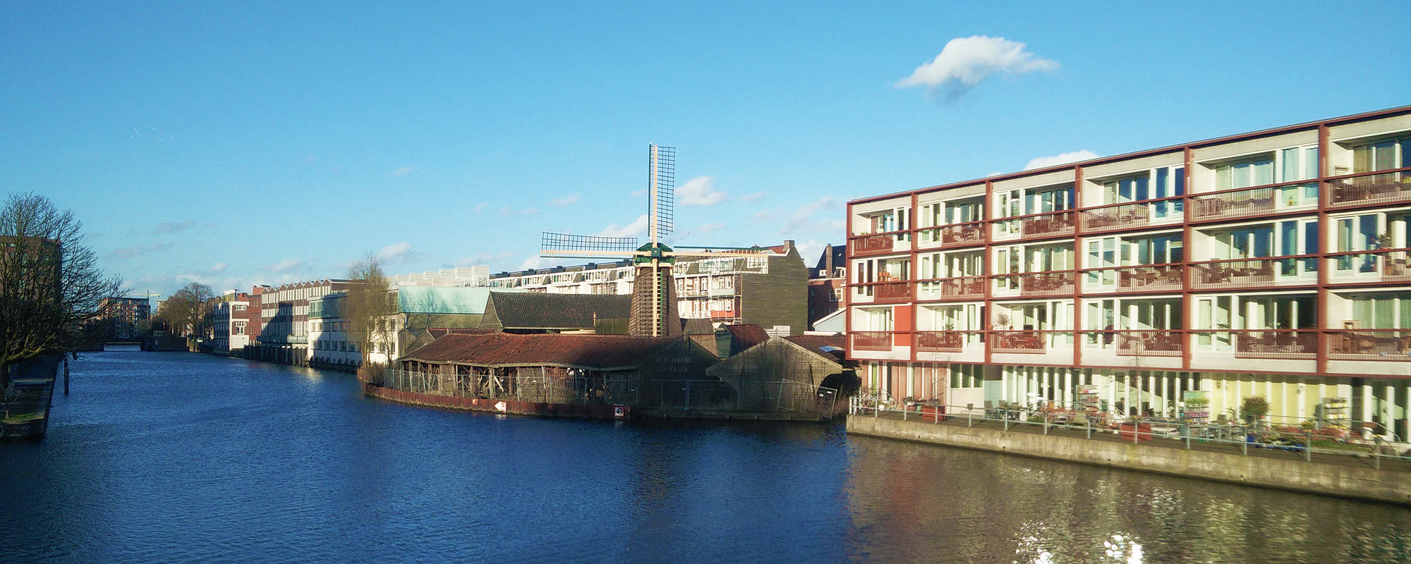 Mühle Molen de Otter im Westen Amsterdams