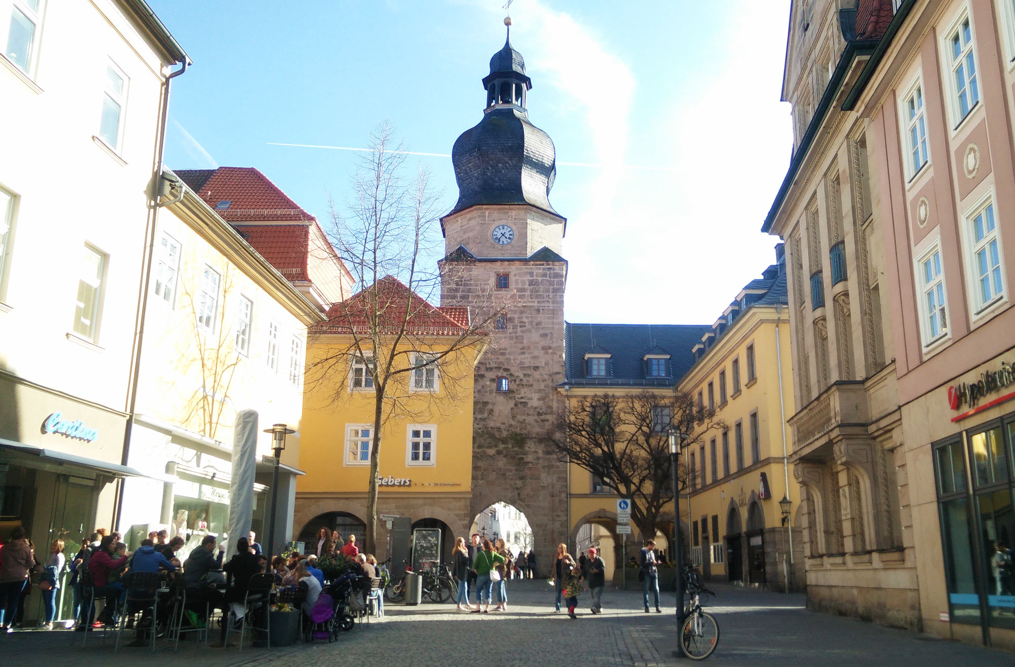 hospital gate Spitaltor in the medieval town wall of Coburg